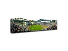 "Milwaukee Brewers - Miller Park Panoramic - Gallery-Wrapped Canvas - 48"" x 16"""