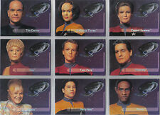 STAR TREK VOYAGER SEASON 1 SERIES 2 SET OF 9 EMBOSSED CREW CARDS E1-E9, WAL-MART