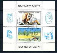 Turco Cipro EUROPA CEPT 1986 blocco 5 o timbrato protezione dell'ambiente naturale br519