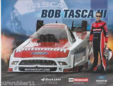 "2013 BOB TASCA III ""MOTORCRAFT"" NHRA NITRO FUNNY CAR HANDOUT/POSTCARD"