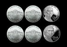 2012 + 2013 P+D+S Jefferson Nickel Mint Proof Set ~ PD from Bank Rolls