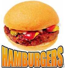"Hamburger Burgers Restaurant Concession Food Trucks Vinyl Sticker Decal 12"""