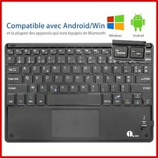 Clavier Bluetooth AZERTY avec Multi Touchpad Ultra Fin pour Tablette Smartphone