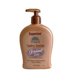 Coppertone Endless Summer Sunless Tanning Moisturizing Lotion Gradual Tan 9 Oz