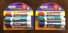 Lot Of 12 Expo Dry Erase Markers Chisel Tip Vibrant Color Mix Low Odor 2 Packs 6