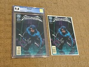 Nightwing 1 CGC 9.8 White Pages (1st Nightwing Solo Title!!) + extra copy