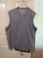 Nike Golf Mens Large Vest Grey Fit Dry Performance Sleeveless 335843-065  AR