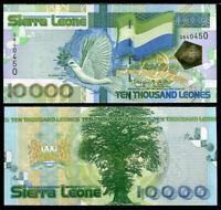 SIERRA LEONE 10,000 10000 LEONES 2004 P 29 BIRD UNC