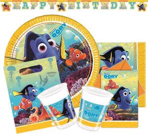 FINDING DORY Birthday Party Range - Tableware Supplies & Decorations(Nemo/Pixar)