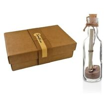 Footprints In the Sand Poem - Message In a Bottle Gift with Box