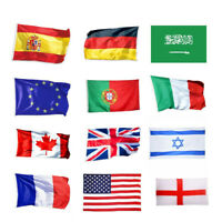 36 Countries Polyester World National Flag 3x5 ft Banner with 2 Brass Grommets