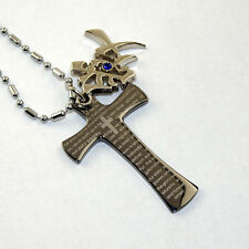 "Anime Naruto Gaara ""愛"" LOVE Logo Alloy Cross Pendant Necklace Cosplay Gift New"