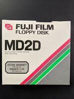 "Pack of 10 Blank 5.25"" Floppy Disks, Fuji Film MD2D, DS/DD, Sealed"