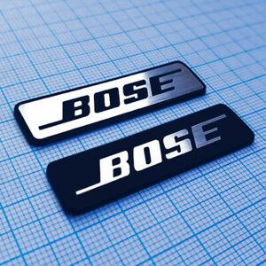 BOSE AUDIO - Metallic Sticker Set, Badge, Emblem (2 pieces)
