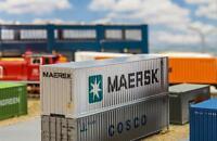 Faller 180840 - 1/87 / H0 40´ Hi-Cube Container - Maersk - Neu