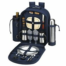 Picnic at Ascot 2 Person Picnic Backpack w/ Coffee, Cooler & Insulated Wine Svc