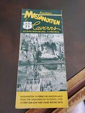 Vintage Tourist Brochure 1930s Massanutten Caverns Harrisonburg, Va