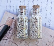 Set of 2 - Miniature bottles of Star Sand from Okinawa, Japan - Star sand beach