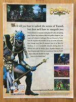EverQuest: The Ruins of Kumark PC 2000 Vintage Poster Ad Art Big Box Promo Rare