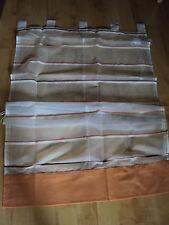 1 Raffrollo Faltrollo Schlaufen weiß lachs Streifen Stange B/H 80 x140 cm