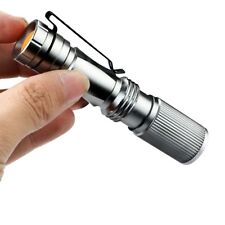 Zoomable Ultra Bright 1000LM LED Flashlight Torch Light Lamp Silver New