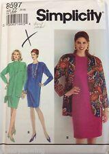 Simplicity Sewing Pattern # 8597 Women's Petite Dress and Jacket Size 20-26