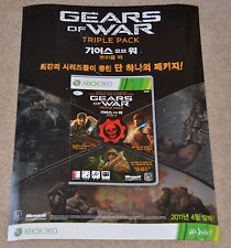 "RARE! Promo Gears of War Triple Pack POSTER (18x24"") (Asian Market)"