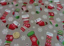 Christmas Socks Weihnachtsstoff stein Baumwolle Weihnachten Deko nähen 50 cm