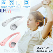 Portable Leafless Hanging Neck Fan Mini Cooling Neckband Electric Air Cooler US