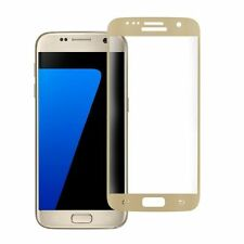 Samsung Galaxy S7 3D FULL SCREEN COVER PANZERGLAS Panzerfolie Tempered GOLD