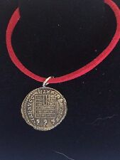 "Constantine Coin WC26 Made From Fine English Pewter On 18"" Red Cord Necklace"