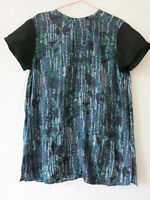 COS Top 12 Tunic Dress Purple Blue Black Oversized Abstract Watercolour Shift