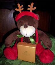 Godiva Chocolates Christmas Bear Reindeer 2007 Super Soft w Candy Box