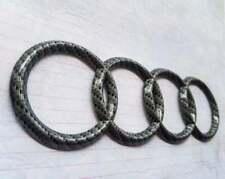 """AUDI Real Carbon Fiber FRONT Badge Emblem Logo A4 A5 A6 A7 S4 S5 RS5 10.7"""" New"""