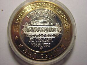 Casino ST. Charles $10 Gaming Token .999 Silver Center