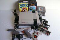 Nintendo NES Bundle ~Console/Controllers ~ 14 Games Original Box & Instr. Mario