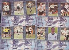 2000 KINNERTON ENGLAND TEAM FACT CARD SET OF 24 BECKHAM OWEN SCHOLES SHEARER