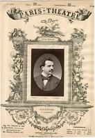 Lemercier, Paris-Théâtre, Léon Melchissédec (1843-1925), chanteur Vintage albume