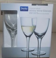 white   wine   glass china  by denby pack of 2