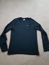 Mens hollister long sleeve shirt medium navy blue M