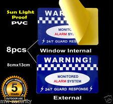 8 Alarm Security Warning Sticker PVC Vinyl Sign Window Internal External