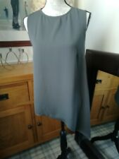 WOMENS SIZE 10 NEXT GREY TOP GORGEOUS LIGHTWEIGHT FLOATY WITH DIPPED SIDE