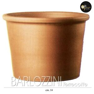 Vaso Giardino Arredamento Cilindro bordato terracotta varie misure (14,28,43,55)