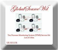 4 Kits 20051 TPMS Sensor Service Kit Fits:Acura Infiniti Land Rover Nissan 13-19