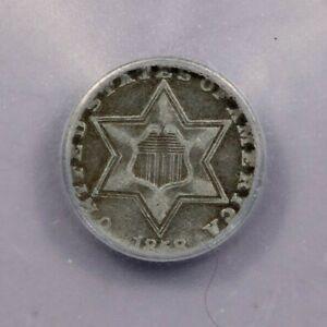 1858-P 1858 Three Cent Silvers ICG F12
