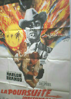 XXl Filmplakat,Plakat,LA POURSUITE IMPITOYABLE,THE CHASE,MARLON BRANDO #151