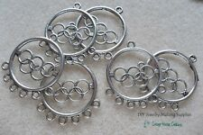 Olympic Charm Pendant Connectors for jewelry making supplies