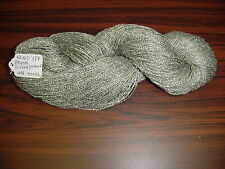 Rayon Boucle Yarn 1200 ypp 1 Skein 4 oz 300. Yards Color Silver/ Green