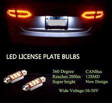 Canbus WHITE Festoon 12SMD LED Number PLATE REG LIGHTS For  VW CC Tiguan Touareg