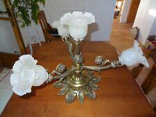 ancien lustre luminaire art nouveau en bronze